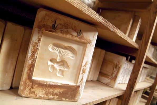 Moule de carrelage céramique. Crédit photo : Terres de Salernes