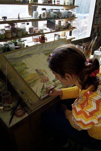 Peinture carrelage. Crédit photo : Terres de Salernes