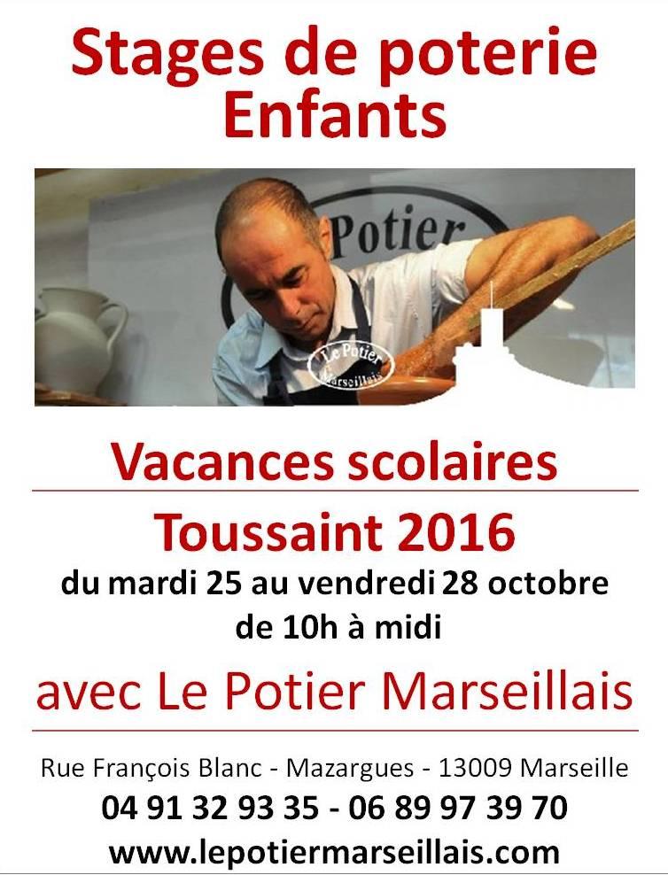 Stage de poterie enfants pour les vacances de la toussaint 2016 marseille bouches du rh ne - Vacances de la toussaint 2016 ...