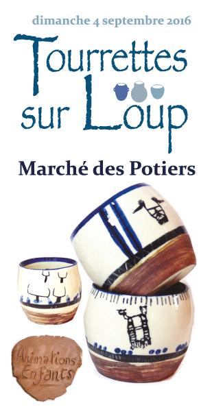 Marché potier de Tourrettes sur Loup (Alpes Maritimes) le dimanche 4 septembre 2016 - céramique et poterie