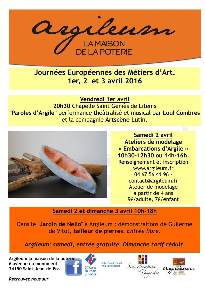 Argileum, La Maison de la Poterie - Saint Jean de Fos (Hérault) - JEMA 2016