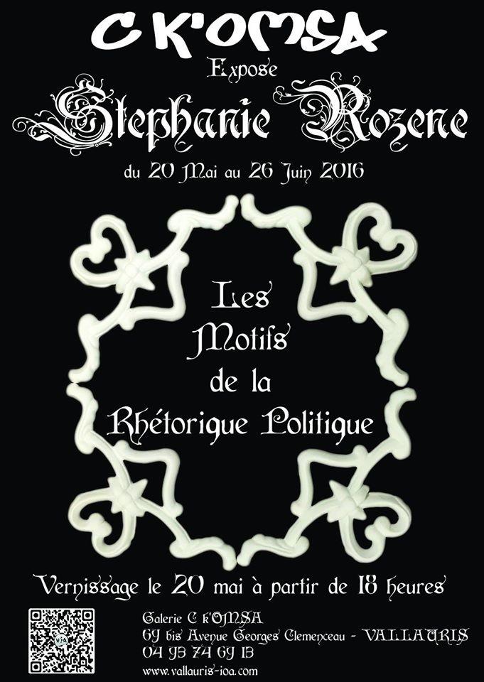 Exposition Stéphanie Rozère, Galerie C K'omsa à Vallauris - du 20 mai au 26 juin 2016