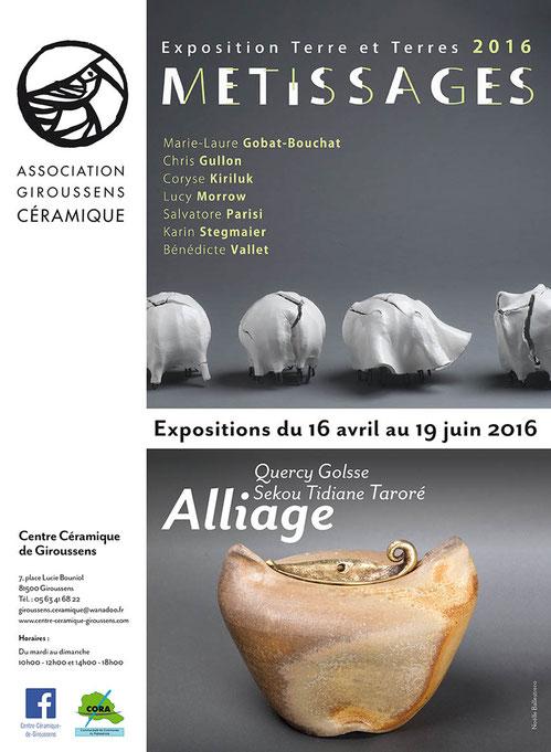 Exposition céramique à Giroussens (Tarn) du 16 avril au 18 juin - Metissages, Alliage