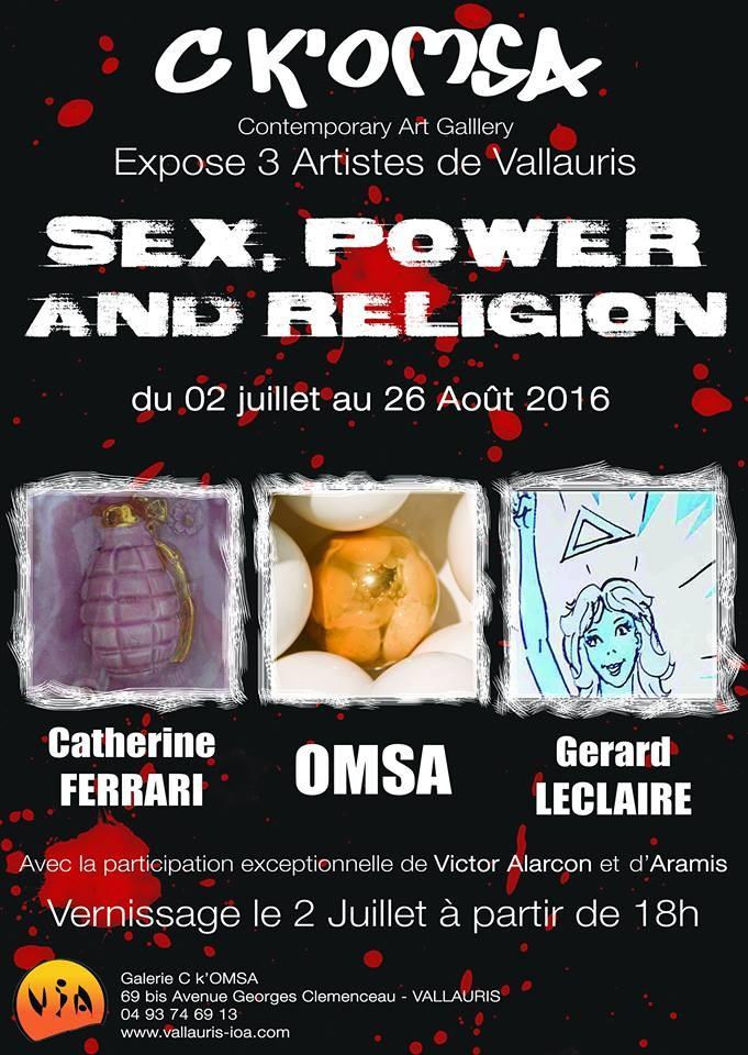 Exposiiton Galerie C K'Omsa à Vallauris (Alpes Maritimes) du 2 juillet au 26 août 2016