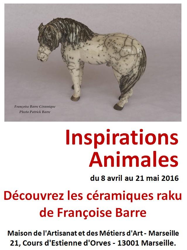 Françoise Barre céramique - Exposition Maison des Métiers d'Art de Marseille, du 8 avril au 21 mai 2016