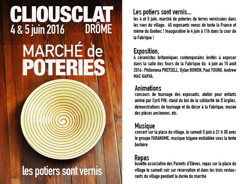 Les postiers sont vernis - Cliousclat (Drôme) les 4-5 juin 2016 - Le programme