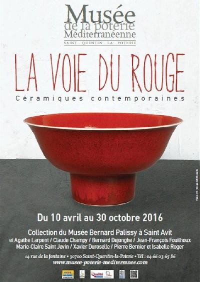 La voie du Rouge, céramiques contemporaines, Exposition Musée de la Poterie Méditerranéenne (Gard)