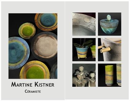 Exposition-Vente à l'atelier céramique Martine Kistner à La Cadière (Var) du 9 au 11 décembre 2016