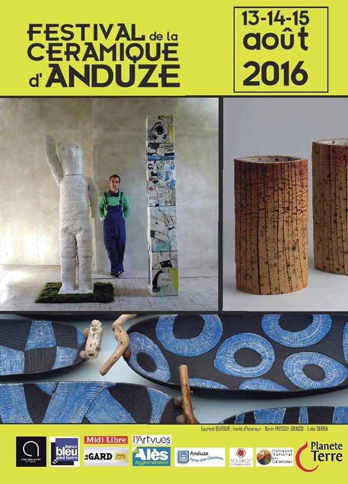 Festival céramique d'Anduze (Gard) du 13 au 15 août 2016 - Association Planète Terre