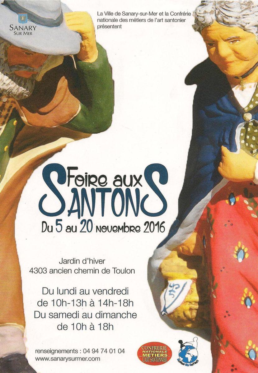 Foire aux santons de Sanary (Var) du 6 au 20 novembre 2016