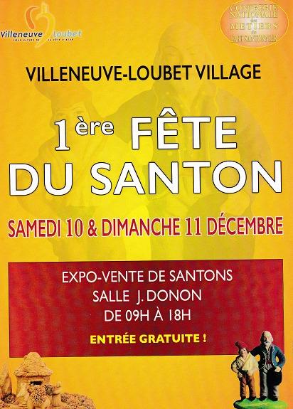 1ère Fête du santon à Villeneuve Loubet (Alpes Maritimes) les 10 et 11 décembre 2016