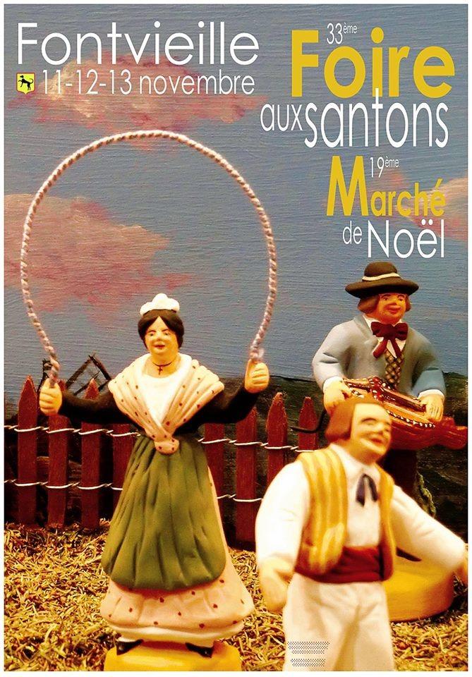 Foire aux santons de Fontvieille (Bouches du Rhône), du 11 au 13 novembre 2016