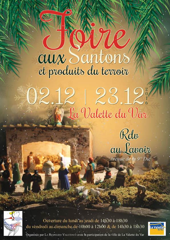 Foire aux santons de La Valette du Var, du 2 au 23 décembre 2016