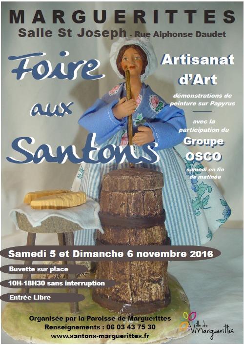 Foire aux santons de Marguerittes (Gard) les 5 et 6 novembre 2016