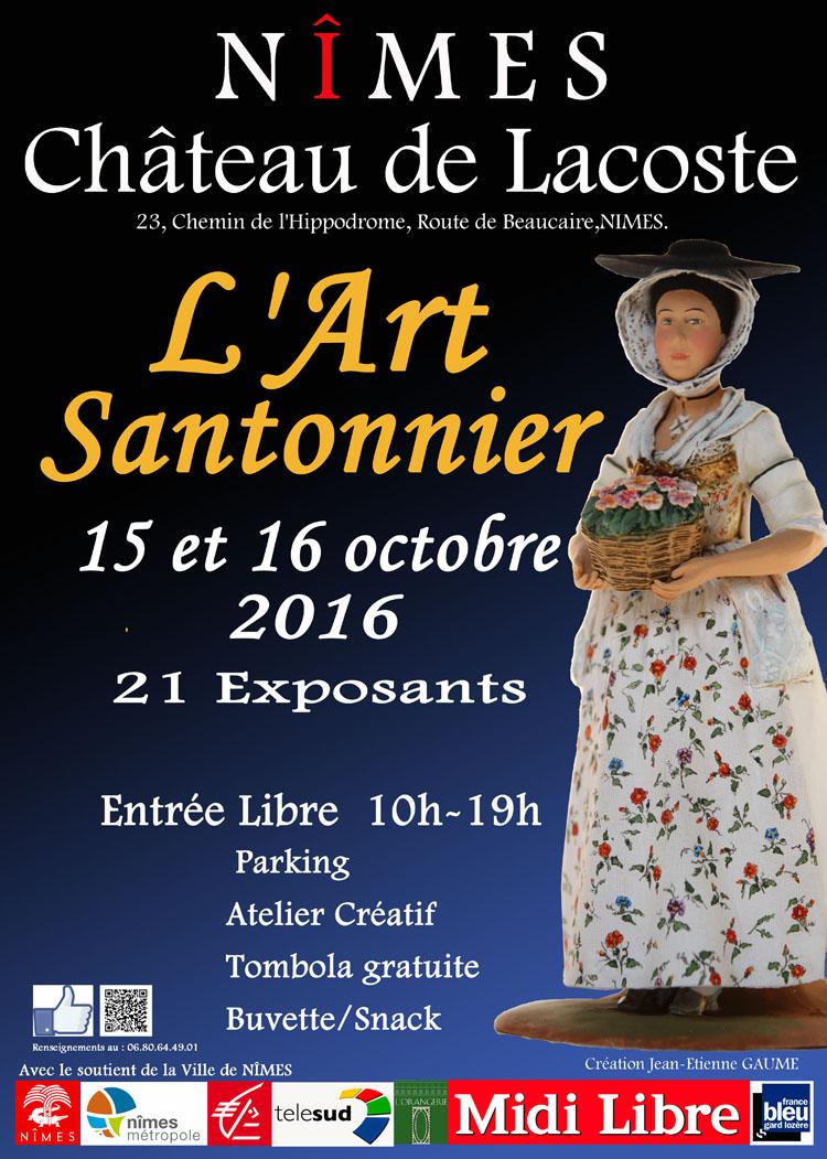 Foire aux santons à Nîmes (Gard), Château Lacoste les 15 et 16 octobre 2016