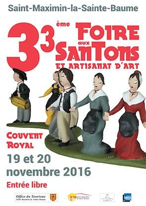 Foire aux santons à Saint Maximin la Sainte-Baume (Var) les 19 et 20 novembre 2016