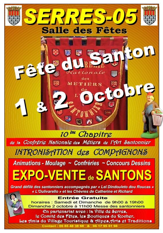 Foire aux santons à Serres (Hautes-Alpes) les 1er et 2 octobre 2016 - 10ème Chapitre de la Confrérie