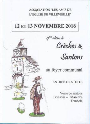 Foire aux santons de Villevieille (Gard) les 12 et 13 novembre 2016