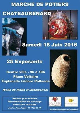 Marché potier de Châteaurenard (13) le 18 juin 2016 - céramique et poterie