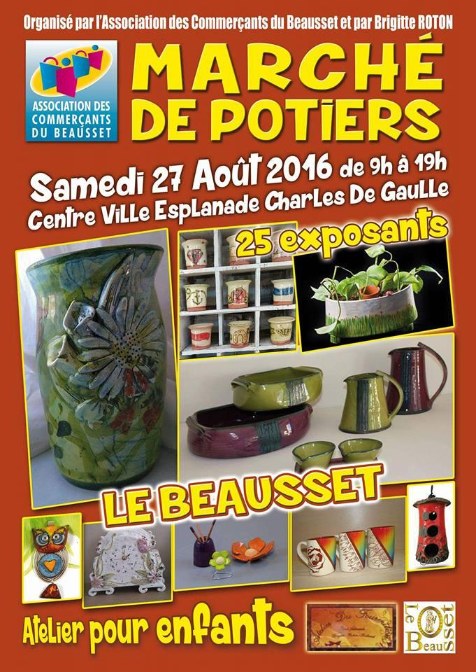 Marché potier du Beausset (Var) le 27 août 2016 - céramique et poterie