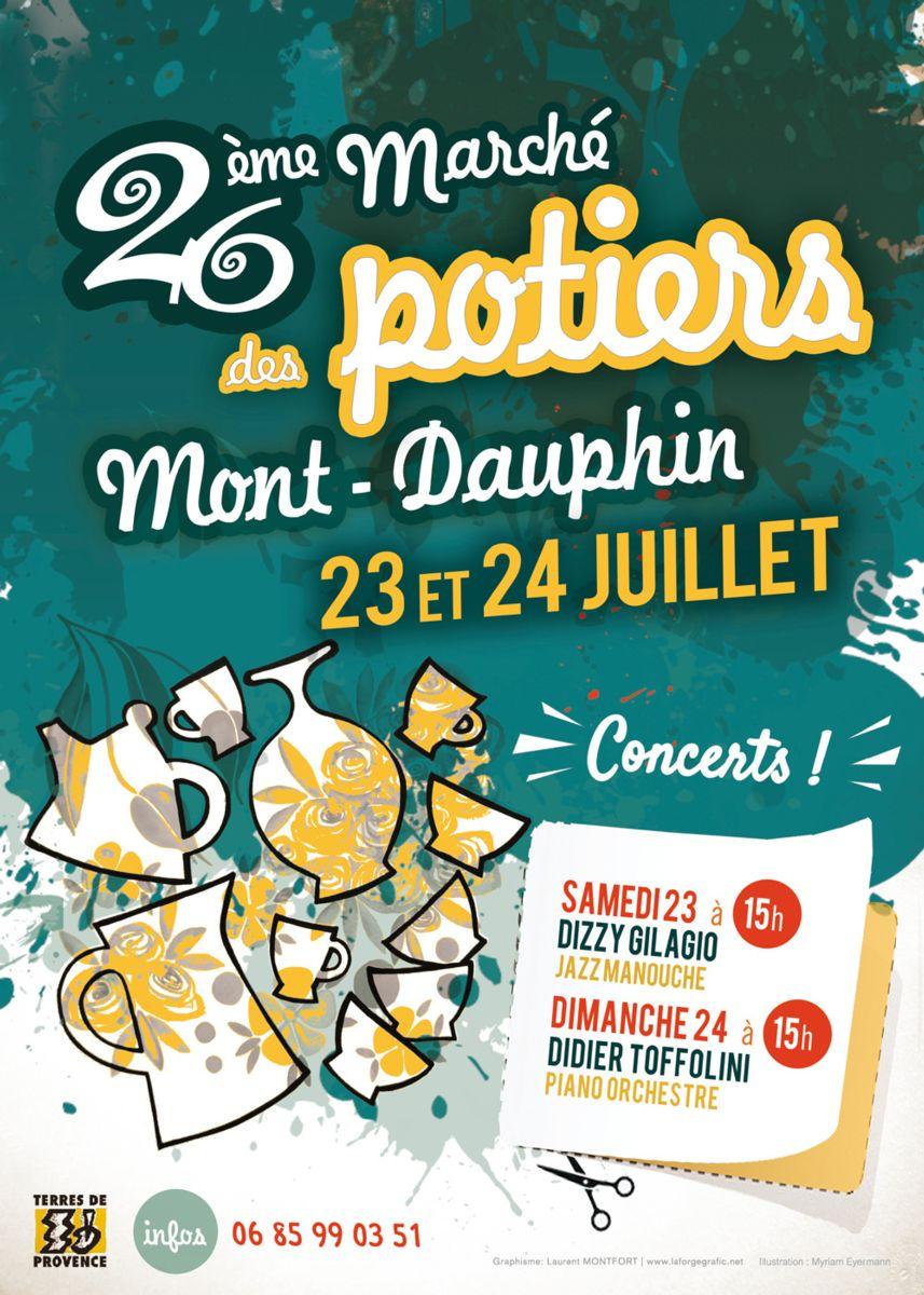 Marché potier de Mont-Dauphin (Hautes Alpes) 23 et 24 juillet 2016 - céramique et poterie, ateliers enfants