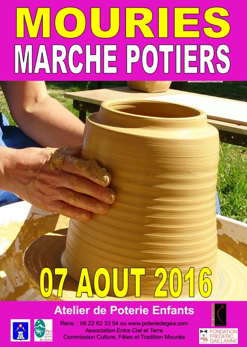Marché potier de Mouriès (13) le 7 août 2016 - céramique et poterie