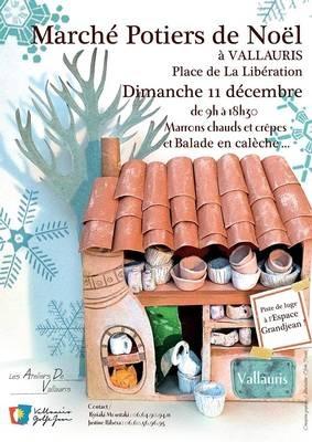 Marché de potier de Noël à Vallauris (Alpes Maritimes) le 11 décembre 2016