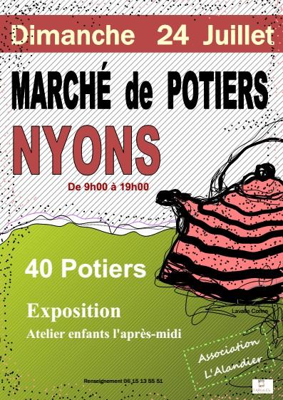 Marché potier de Nyons (Drôme), le 24 juillet 2016 - céramique et poterie