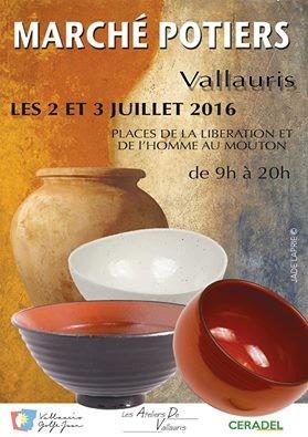 Marché potier de Vallauris, Juillet 2016 - Association Les Ateliers de Vallauris