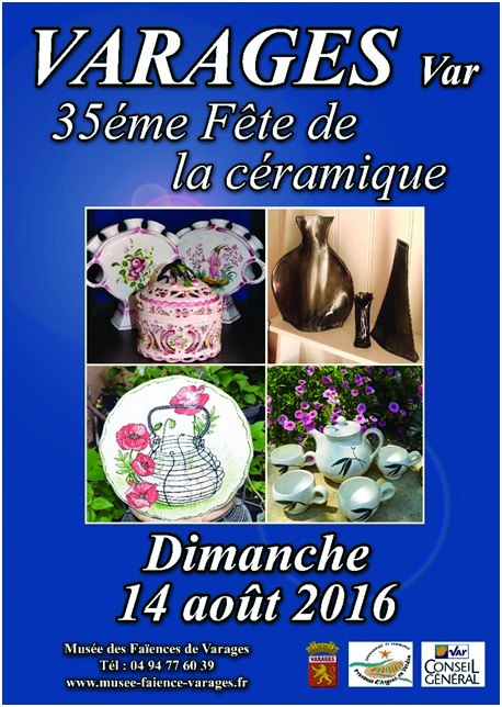 Marché potier de Varages (Var) le dimanche 14 août 2016 - Céramique et poterie
