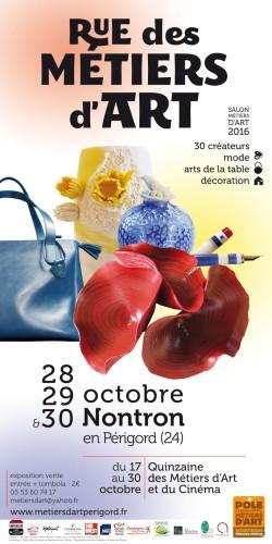 Salon Rue des Métiers d'Art de Nontron (Périgord), les 28, 29 et 30 octobre 2016