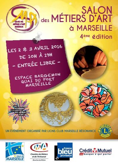 Salon des m tiers d 39 arts marseille les 2 et 3 avril 2016 espace bargemon vieux port lion 39 s - Salon loisirs creatifs marseille ...
