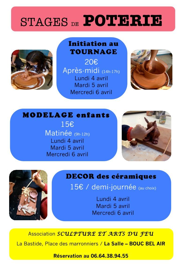 Stages poterie loisirs à Bouc Bel Air - Gaëlle Bula-Lafont et l'Association Sculpture et Art du feu