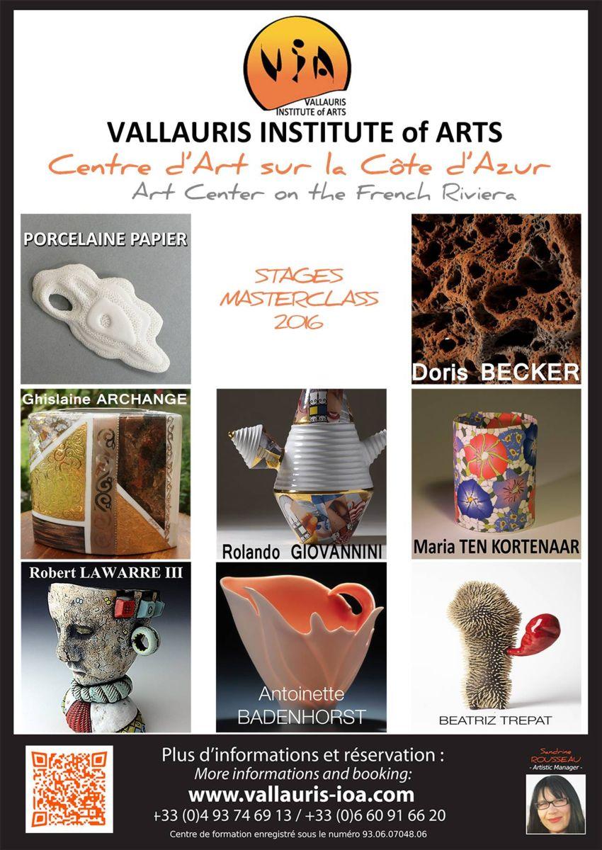 Vallauris Institute Of Arts - Stages céramique 2016