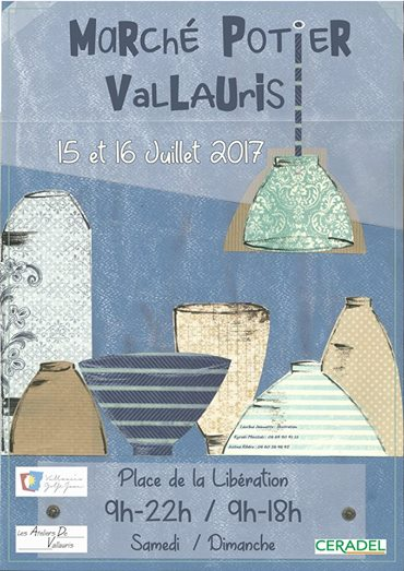 Marché de potiers de Vallauris (Alpes Maritimes) les 15 et 16 juillet 2017 - céramique et poterie