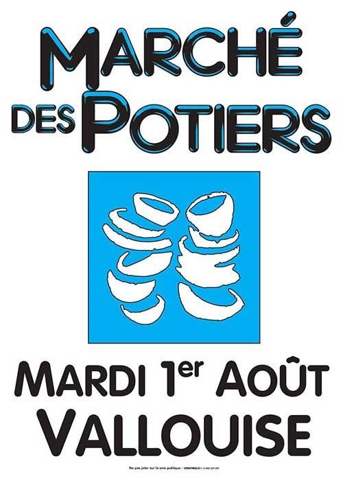 Marché potier de Vallouise (Hautes Alpes) le 1er août 2017 - céramique et poterie