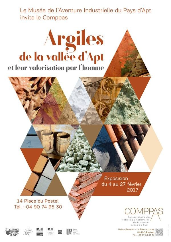 Exposition, Argiles de la vallée d'Apt au Musée de l'aventure industrielle d'Apt (Vaucluse) du 4 au 27 février