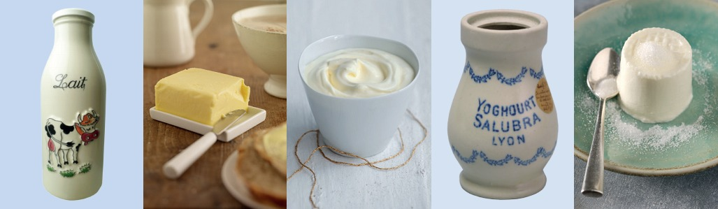 Exposition, Produits laitiers et céramiques à la Maison de la Céramique de St Uze (Drôme)