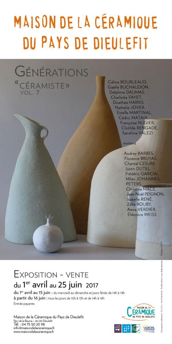 Exposition à la Maison de la céramique du Pays de Dieulefit jusqu'au 25 juin 2017 - Génération céramique Vol.7