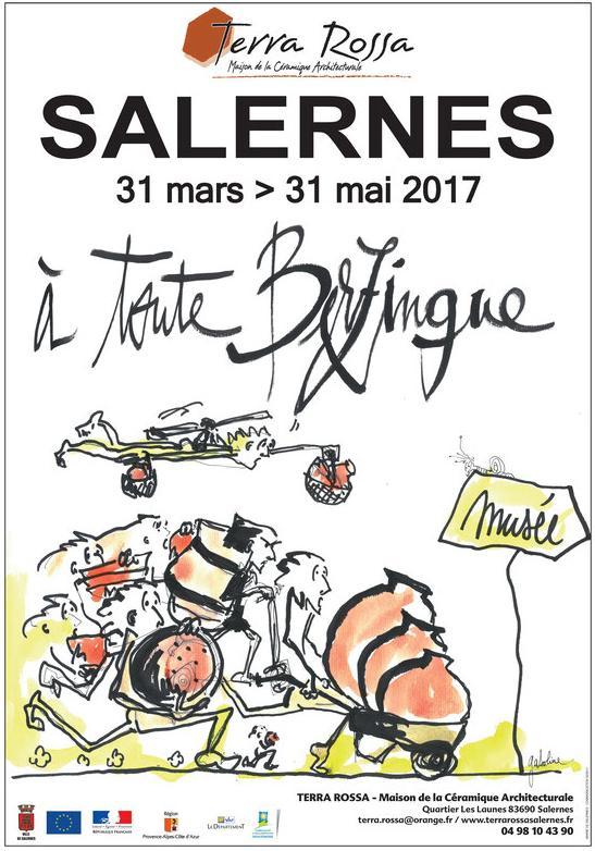 Exposition céramique A toute Berzingue, Musée Terra Rossa de Salernes (Var) jusqu'au 31 mai 2017