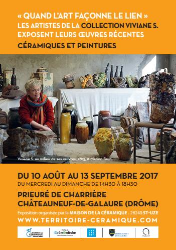 Exposition Quand l'art façonne le lien, Maison de la céramique de Saint-Uze (Drôme) du 8 août au 13 septembre 2017