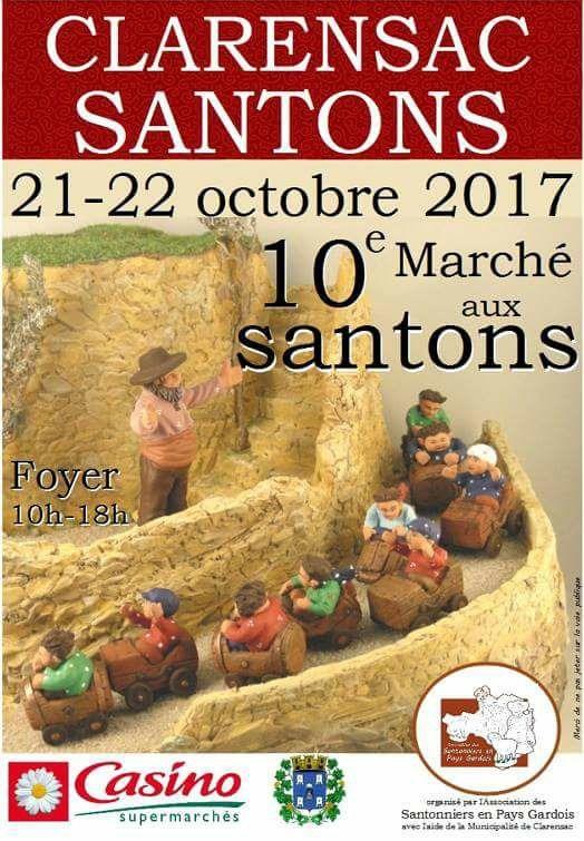 Foire aux santons de Clarensac (Gard) les 21 et 22 octobre 2017