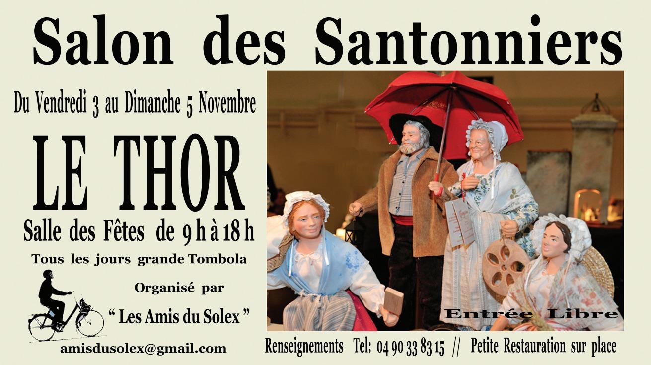 Salon des Santonniers du Thor (Vaucluse) du 3 au 5 novembre 2017 - foire aux crèches et santons