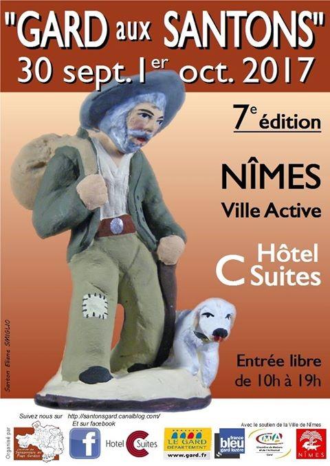 Gard aux santons, marché aux santons à Nîmes (Gard) les 30 septembre et 1er octobre 2017 - Foire aux santons