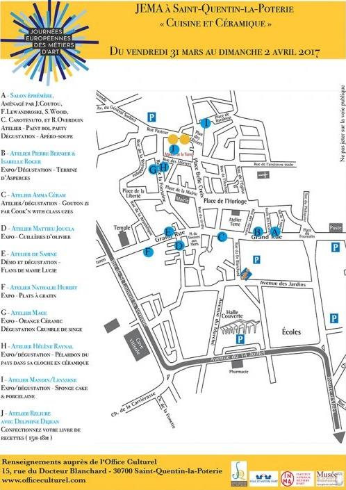 JEMA 2017 St Quentin la Poterie (Gard) - art céramique et cuisine, journées européennes métiers d'art -savoir-faire du lien