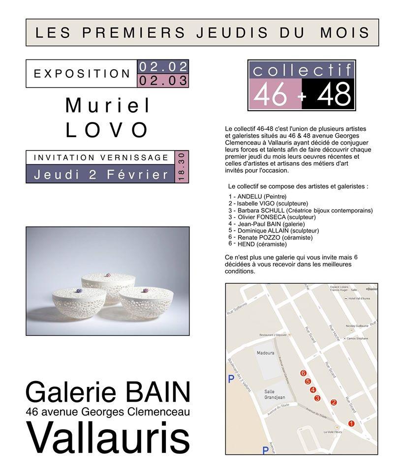 Exposition galerie Bain - Vallauris - les 1ers jeudi du mois