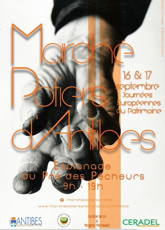 Marché potier d'Antibes (Alpes Maritimes) les 16 et 17 septembre 2017 - Céramique et poterie