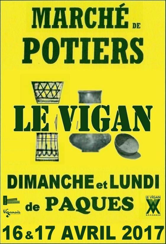 Marché potier du Vigan (Gard) les 16 et 17 avril 2017 - céramique et poterie