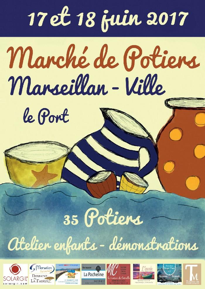 Marché potier de Marseillan (Hérault) les 17 et 18 juin 2017, céramique et poterie