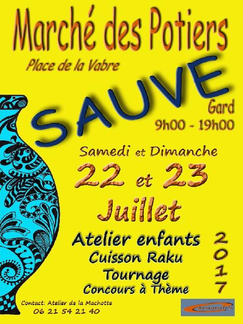 Marché potier de Sauve (Gard), les 22et 23 juillet 2017 - céramique et poterie